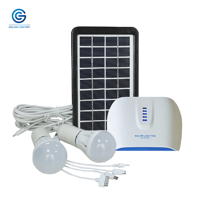 Goland Century SG0403W 6V 3W Solar Lighting System Small DC Solar Generator With 4.4AH Rechargeable Lithium Battery For Outdoor 2