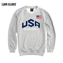 Men's Pullover USA basket-ball Dream Team Sweatshirt Hoodie Solid Color Casual Men's Long Sleeve Sweatshirt T-shirt US Hoodies