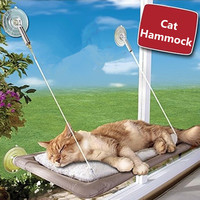 Sucker Style Cat Hammock Window Cat Basking Window Perch Cushion Sunny Dog Cat Bed Hanging Shelf