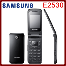 E2530 Original unlocked Samsung E2530 Mobile Phone 2inch FM Bluetooth JAVA Russian&Polish menu Support refurbished Free Shipping