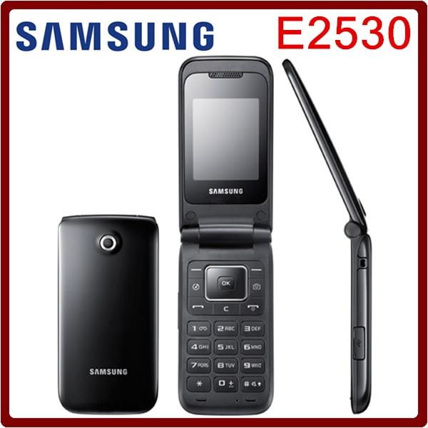 e2530 original unlocked samsung e2530 mobile phone 2inch fm bluetooth java menu support refurbished free