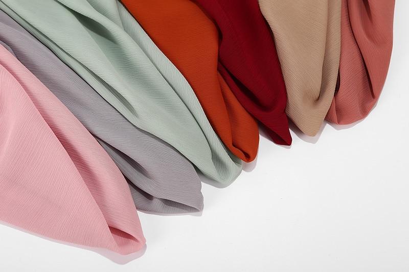 10 Pc/lot High Quality Crinkle Chiffon Hijab Scarf Shawls Ladies Muslim Fashion Plain Wraps Headband Long Scarves/scarf 180*75cm