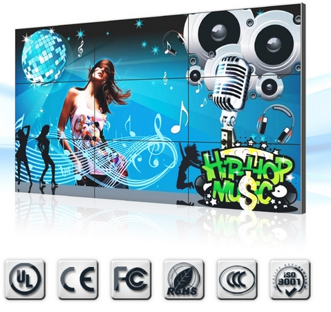 3x3 LCD VideoWall 46inch Matrix Full HD 46 Inch 3x3 9pcs LCD Video Wall With Free Software And Brackets
