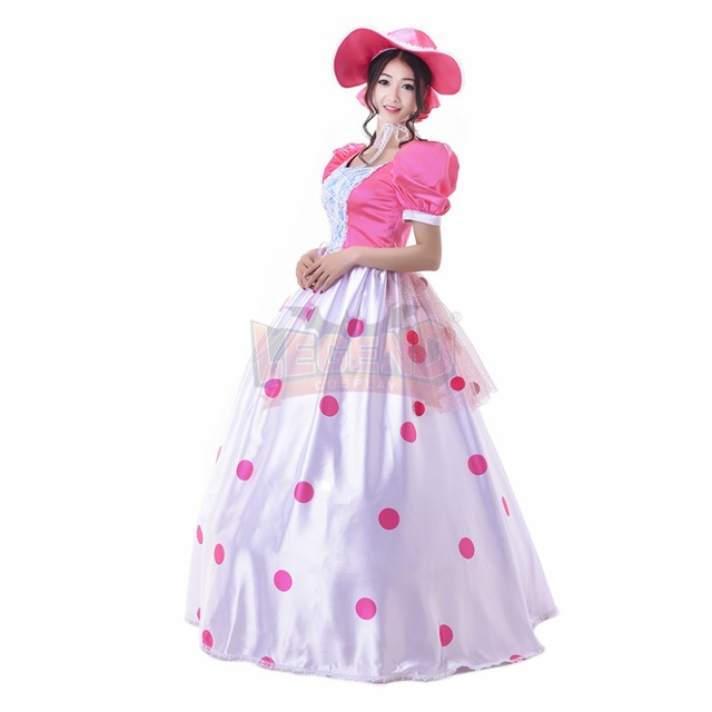 Cosplaylegend Woody s girlfriend Toy Story Bo peep Cosplay adult costume  Pink Dress custom made 4b1d894ae98