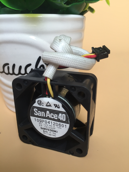 Original Sanyo 4 cm 4020 12V 0.18A 109P0412D601 3 line speed double ball fan