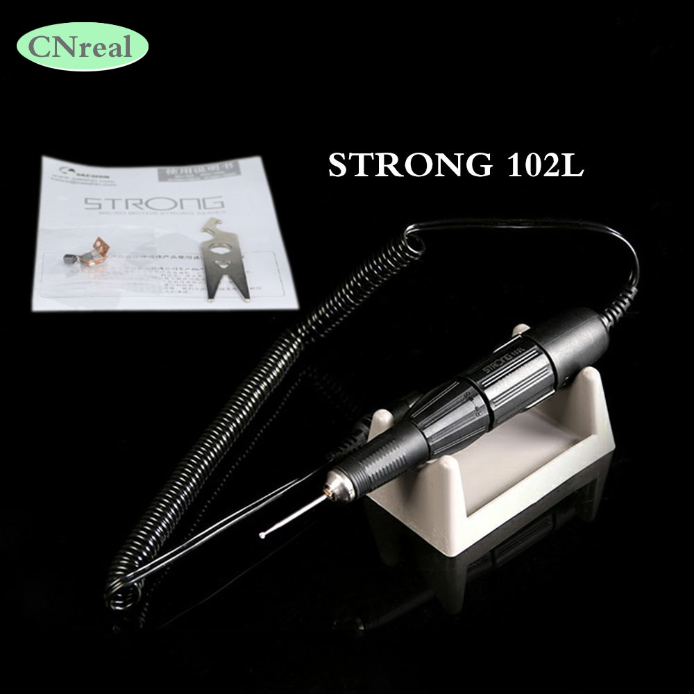 1 pc Micro Motor Handpiece STRONG-102L for ST204 Grinding Machine Polisher Dental Jewelry Carving Tools for Variety of Materials wp2