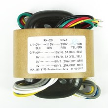 30VA Tinh Khiết Đồng R core Biến Áp 30 wát 15VX2 + 6VX2 Cho Pre Amp DAC Headphone Amp âm thanh Biến Áp