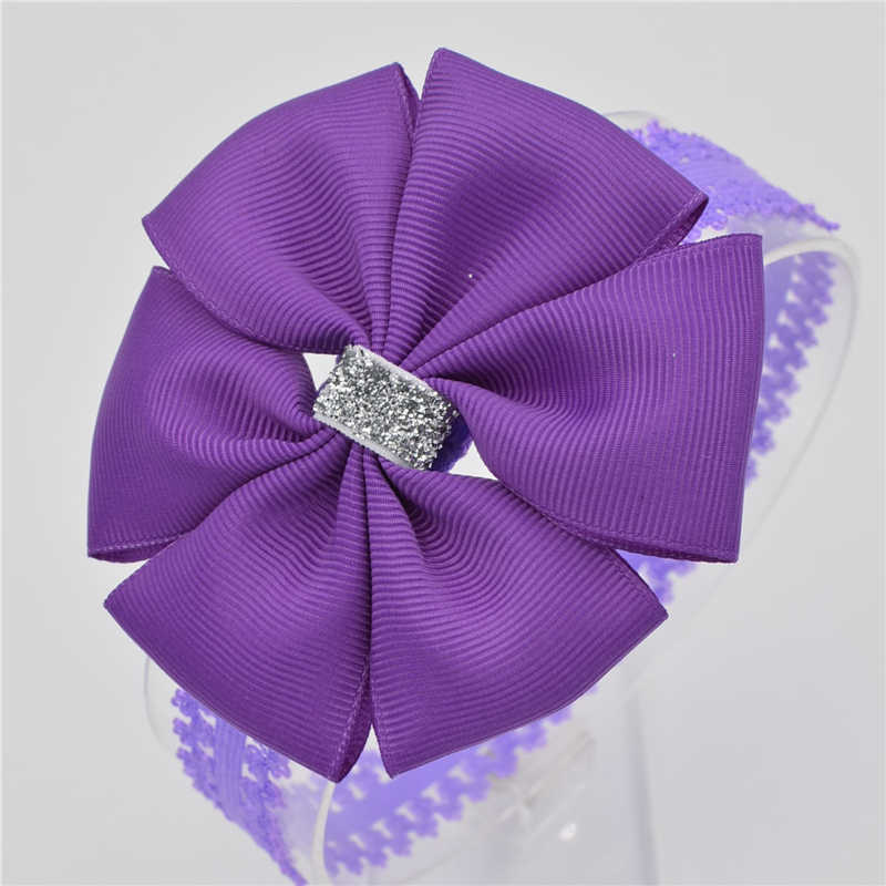 22 цвета Новый бант для малышей цветок повязка бант лента Новорожденный повязка на голову для малыша ручной работы DIY аксессуары для волос для детей