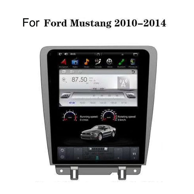 12.1 Tesla Android 7.1/6.0 Fit Ford Mustang 2010 2011 2012 2013 2014 Car DVD Player Navigation GPS Radio