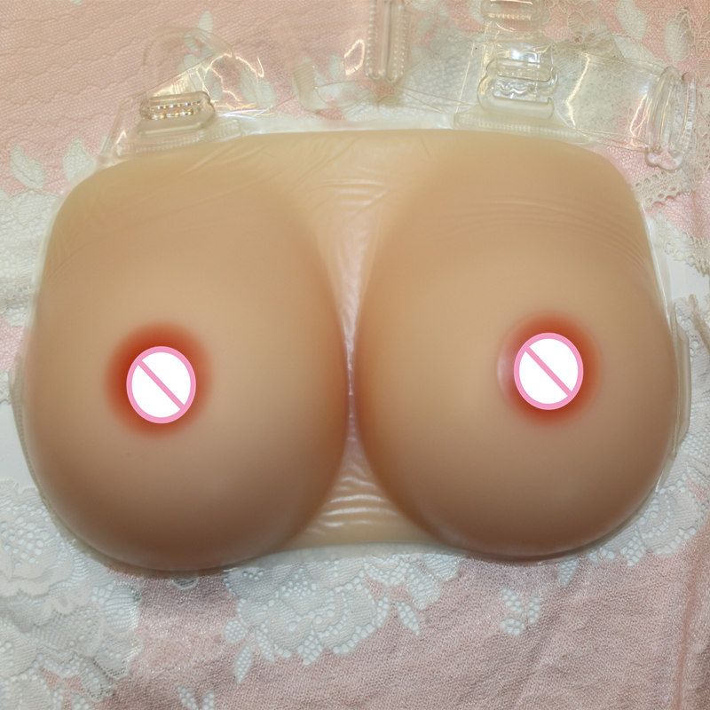 Backside Slight Concave beige Silicone Fake Breast Forms for Men Cross Dressers Deep Cleavage Rubber Big Artificial Women Boobs free delivery cheap price promotional 1400g pair plump sexy fake silicone breasts forms for cross dressers or women enlarge