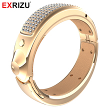 EXRIZU Z1 Bluetooth Smart Wristband Jewelry Fitness Bracelet Health Tracker Band Smartband with 108 Diamond for Android iOS