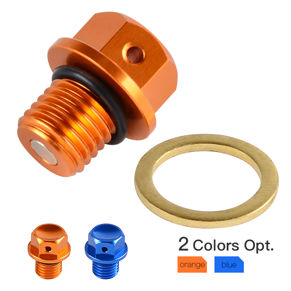 Magnetic Oil Drain Plug Bolt Fits For KTM 50 65 125 200 250 300 350 450 530 SX SXF EXC XC XCW XCF EXCF FREERIDE 250 R 300Magnetic Oil Drain Plug Bolt Fits For KTM 50 65 125 200 250 300 350 450 530 SX SXF EXC XC XCW XCF EXCF FREERIDE 250 R 300