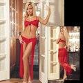 Longo Vestido de Noite de Preços Por Atacado Hot Sexy Sheer Lingerie Pijamas Mulheres Lace Vestido de Noite W3639