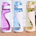 Envío de la Nueva Llegada 650 ml 3 color Shaker Blender Mixer Taza Deportes de Fitness gimnasio plástico a prueba de fugas portátil taza de agua botella