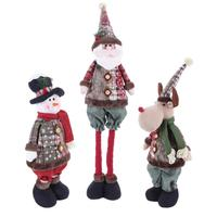 Christmas Santa Claus Dolls Snowman Dolls Standing Figurine Ornaments For Kids Christmas Gifts Toy Christmas Window Decorations