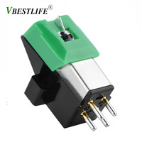Record Player Stylus 3 Speed 13mm Pitch Record Cartridge High Quality Vinyl Stylus For AT95E
