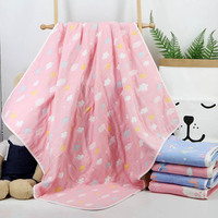 6 Layers Baby Blanket Newborn Cotton Swaddle Wrap Children's Blanket Baby Swaddle Square Quilt Bath Blankets