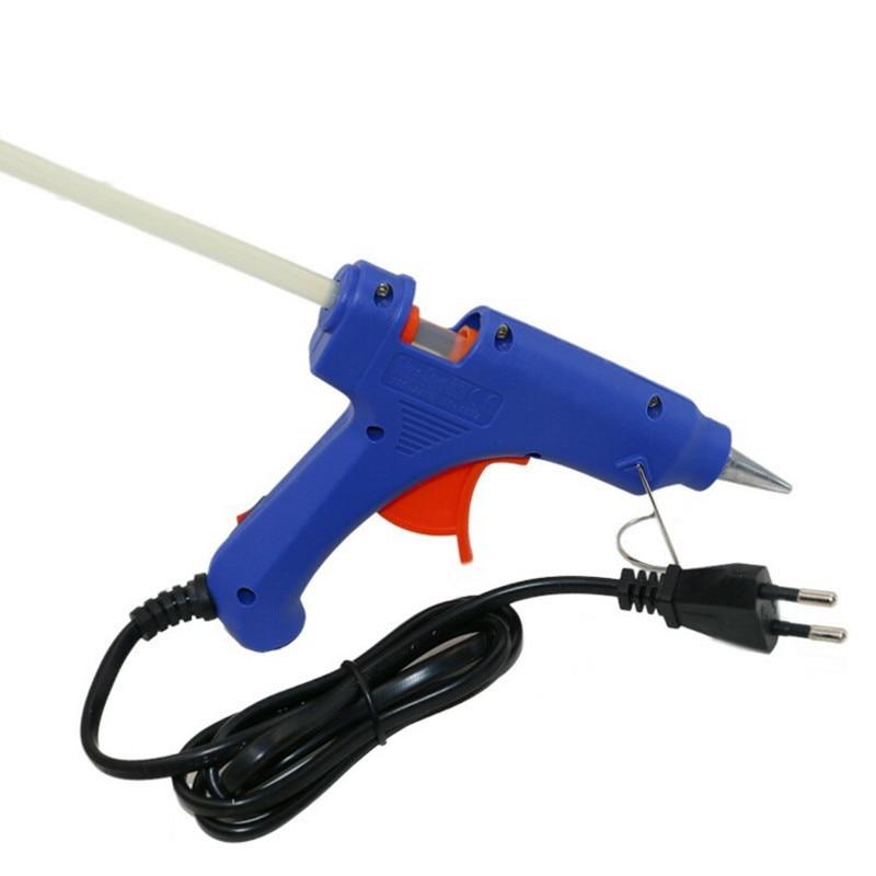 20 Вт мини клеевой пистолет Пистолеты термо-электрический тепла Температура инструмент ЕС Plug термоклей пистолет с бесплатная 1 шт. 7 мм Клей-карандаш промышленные