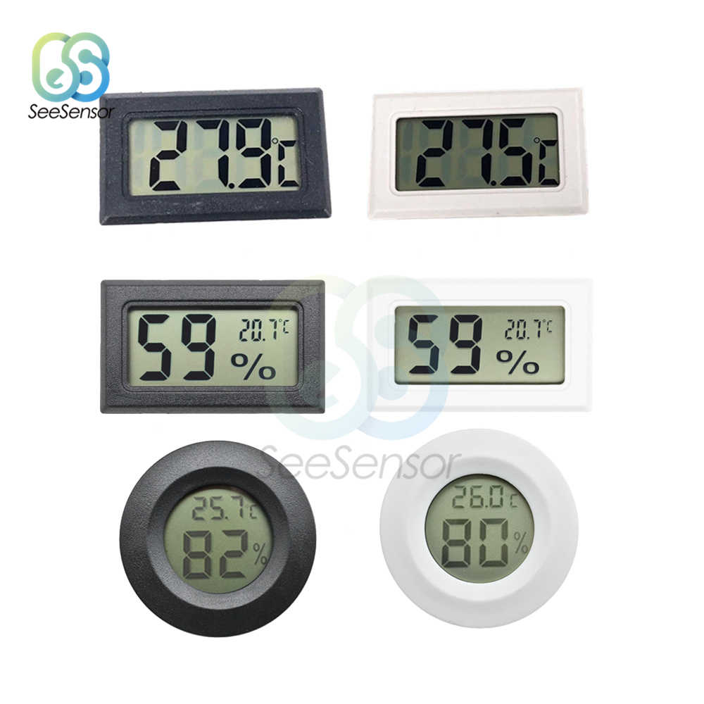 LCD Mini Digital Thermometer Hygrometer Temperature Sensor Humidity Meter for Freezer Refrigerator Fridge Thermometer Gauge