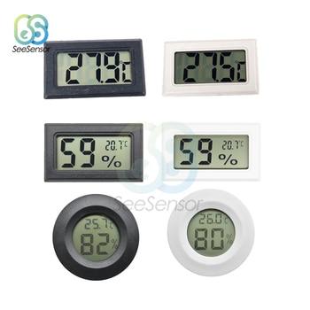 LCD Mini Digital Thermometer Hygrometer Temperature Sensor Humidity Meter for Freezer Refrigerator Fridge Thermometer Gauge 1pcs mini lcd digital thermometer for fridges freezers coolers aquarium chillers mini 1m probe black
