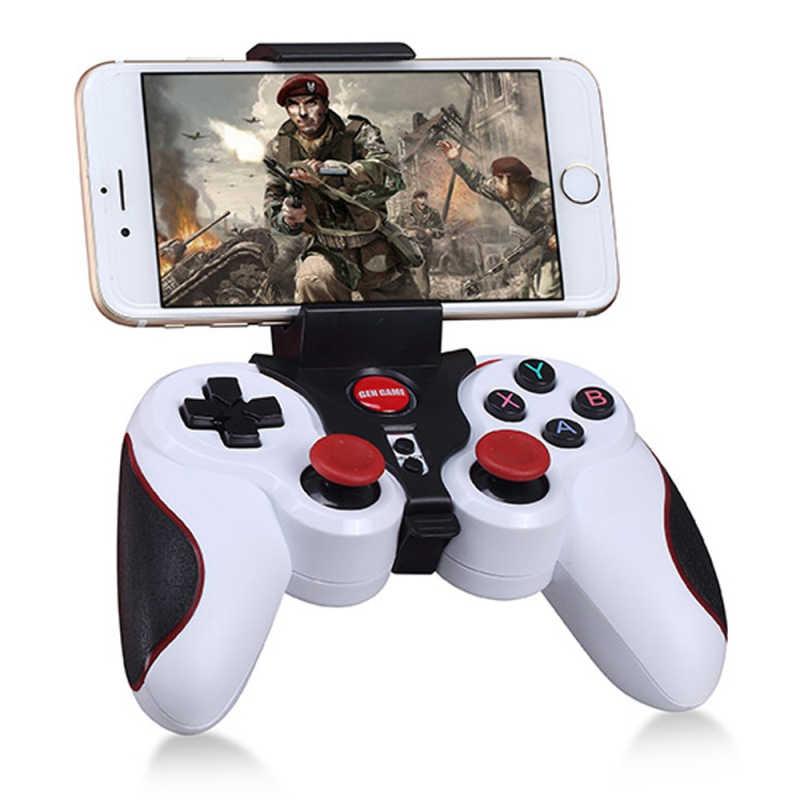 Унив. игровой S5 Беспроводной игровые устройства с джойстиком игровая Радио пульт дистанционного управления Bluetooth для Android IOS и ПК ТВ коробка держатель