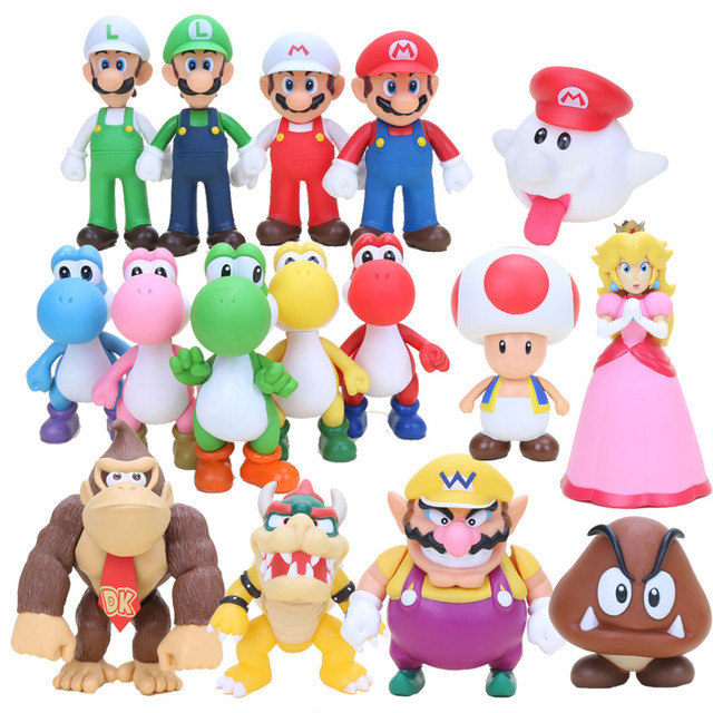 8cm super mario bros boo ghost yoshi luigi peach pvc. Black Bedroom Furniture Sets. Home Design Ideas