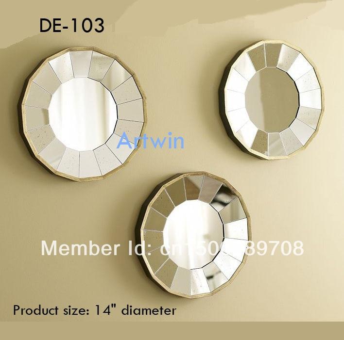Silver Wall Decor Mirror Wall Stick Mirror Decorative Small Mirror