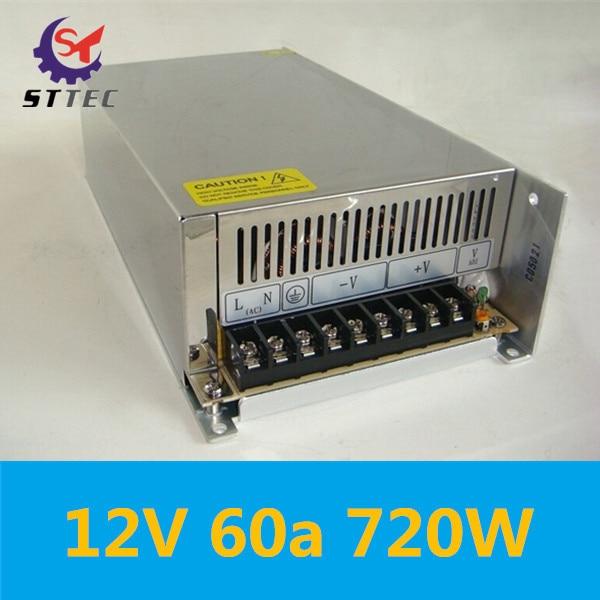 купить Free shipping High quality 60A 12V switching power supply control transformer AC 110/220V to DC12V 720W transformer по цене 6213.25 рублей