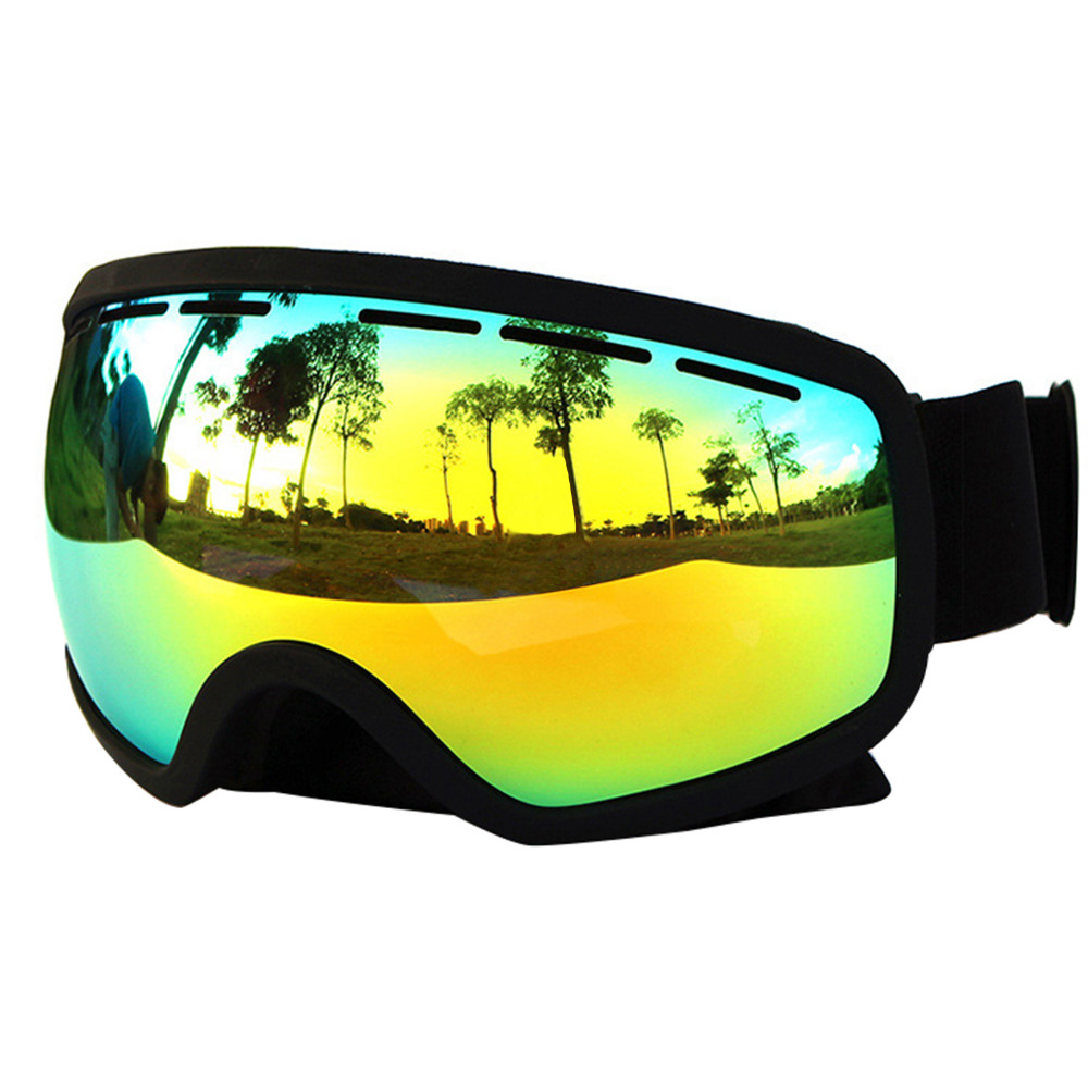 Prix pour Nouvelle Arrivée Copozz Lunettes de Ski à double lentille anti-brouillard grandes lunettes de ski professionnels sphériques unisexe lunettes de neige multicolore