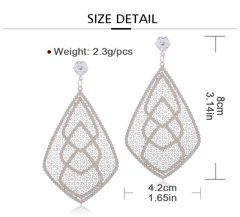 HTB1RO4 aPzuK1RjSsppq6xz0XXaX - Badu Big Filigree Statement Earring for Women Rhinestone Dangle Drop Earrings Vintage Fashion Jewelry