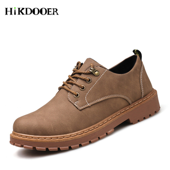 Autumn Winter Boots Men Martin Shoes Casual Leather Mens Dr Martins Male Work Safety