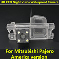 For Mitsubishi Pajero America version Car CCD 4LEDS Night Vision Backup Rear View Rearview Reversing Camera Waterproof Parking