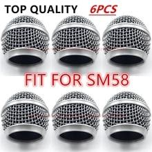 6 قطعة/الوحدة المهنية استبدال ميكروفون مصبغة الكرة رئيس شبكة يناسب ل shure sm58 sm58sk beta58 beta58a