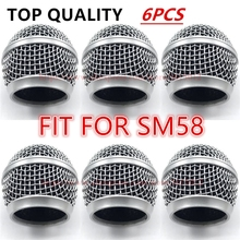 6pcs/lot Professional ReplacementMicrophone Grille Ball Head Mesh Fits For shure sm58 sm58sk beta58 beta58a