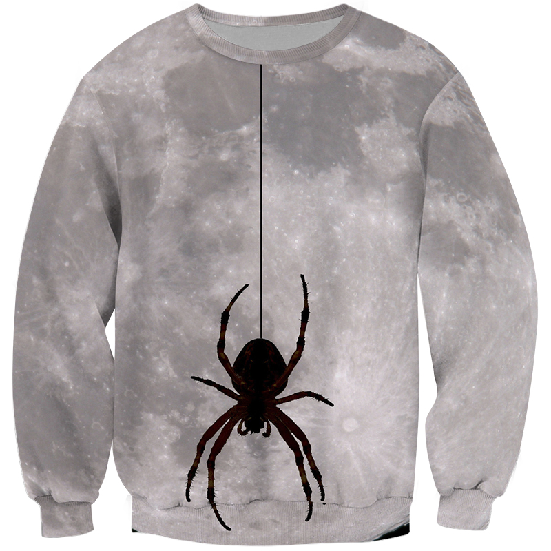 Cloudstyle Halloween Sweatshirts Hip Hop Unisex Hooded 3D Printed Spider Tracksuits Harajuku Streetwear Men Fashion Pullover 5XL