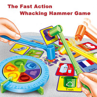 Kids Hammering Card Board Game English Word Picture Early Learning Educational Toys Plastic Desctop Hammer Interactive