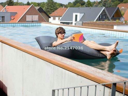 купить Extra large floating bean bag , Giant pool side beanbag chair on the water , black float bean cushion по цене 3263.88 рублей