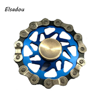 Elsadou Stainless Steel Shimano Chain DIY Fidget Spinner Hand Spinner Full Ceramic Bearing Relief Cup