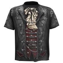 Men Clothing 2019 Summer New 3d Skull T shirt Short sleeve Funny shirts Rock Punk Anime Gothic T-shirt Male4XL