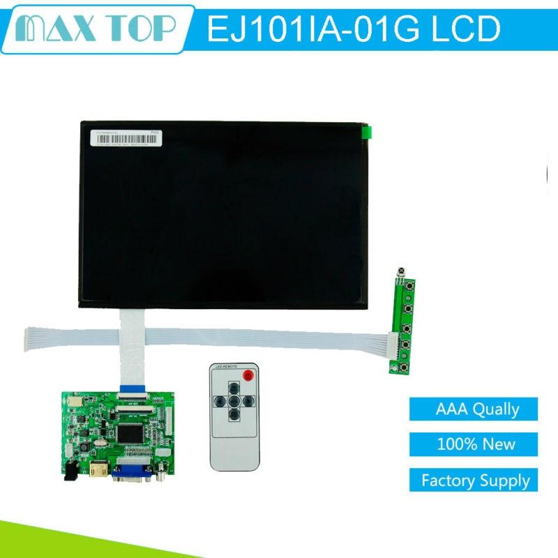 10.1 Inch 40&50pins 1280(RGB)*800 TFT EJ101IA-01G LCD Screen Display Remote Driver Control Board 2AV HDMI VGA for Raspberry Pi