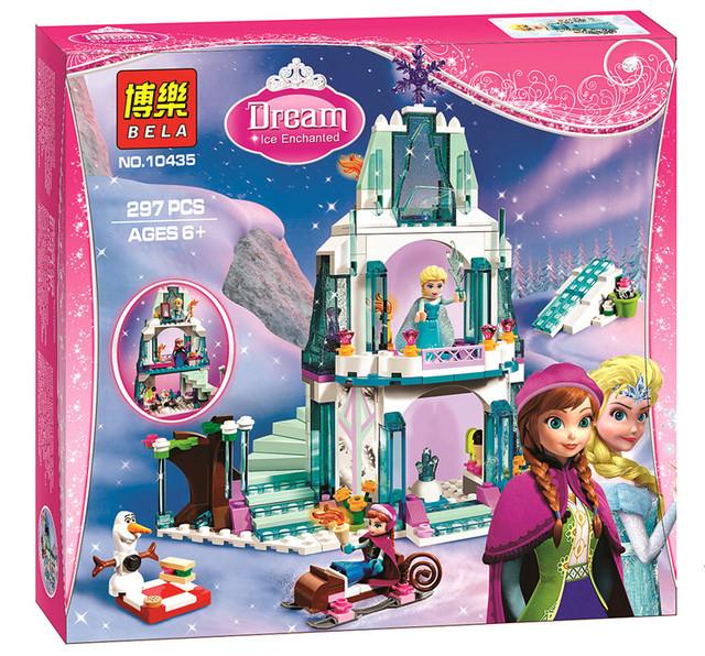 Bela 10435 Romantic Castillo de Cenicienta Anna Elsa SY373 Bloques de Construcción de Ladrillo Juguetes Para Niñas Compatible 41062
