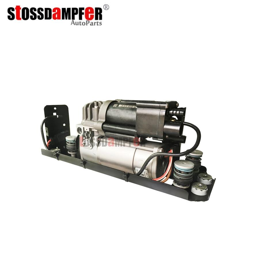 StOSSDaMPFeR Compressore Sospensioni Pneumatiche Con Sospensione Valvola Staffa Fit BMW F01 F02 F04 740i 750i 37206864215