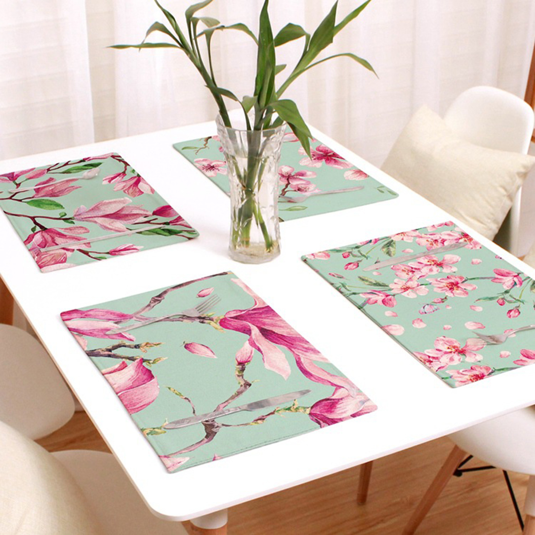 1 Pcs Placemat Fashion Cotton Fabric Dining Table Mat Dish