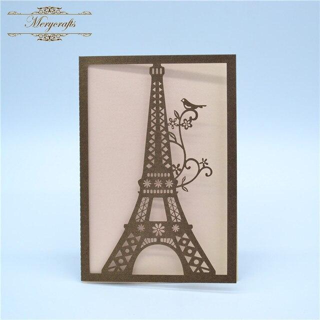 Laser Cut Creative Design Eiffel Tower Wedding Decorations Nepali