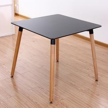 80 см мдф площадь обеденный стол. Черный и белый высокий класс стол переговоров. Журнальный столик. Средней плотности доска. Массив бука ноги