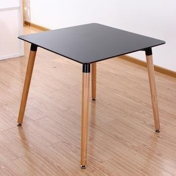 Vierkante Eettafel Wit.80 Cm Mdf Vierkante Eettafel Zwart Wit Hoogwaardige