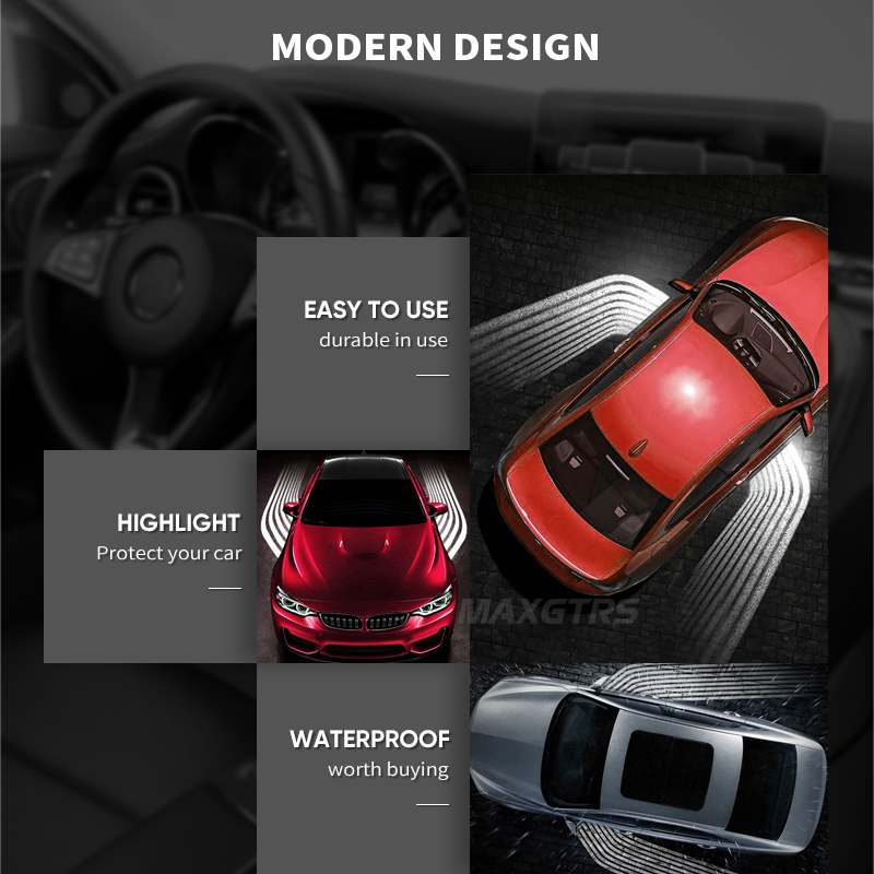 2 шт., ангельские крылья, автомобильный приветственный светильник, теневой светильник, проектор, автомобильная светодиодная дверная предупреждающая лампа, лампа для Audi, BMW, Toyota, Volkswagen