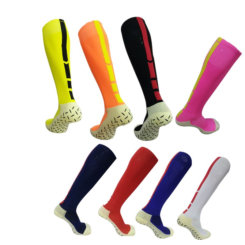 Professional Men Sports Soccer socks outdoor non-slip Football basketball Knee-high Breathable Compression socks for male mj1790 soumit 5 colors professional yoga socks insoles ballet non slip five finger toe sport pilates massaging socks insole for women