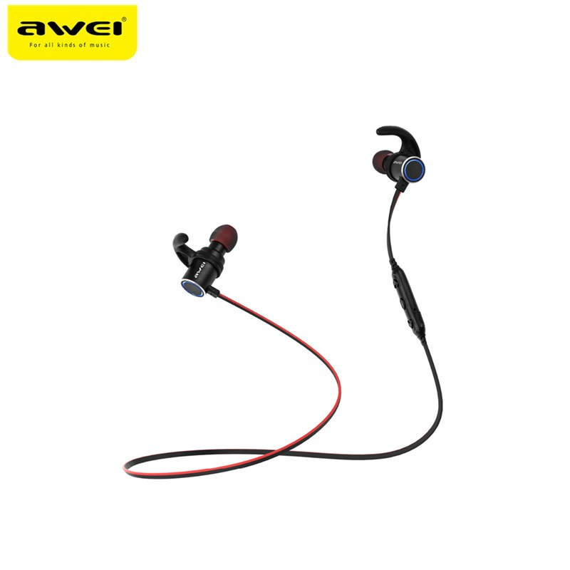 Awei AK8 IPX4 Étanche Magie Aimant Attraction Bluetooth Sport Écouteurs avec Microphone Pour iPhone samsung