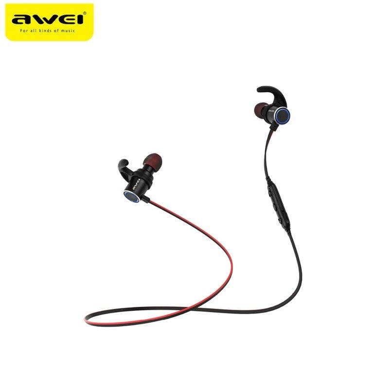 Awei AK8 IPX4 Wasserdichte Kopfhörer Magische Magnet Attraktion Bluetooth Sport Kopfhörer mit Mikrofon Für iPhone samsung